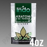 O.P.M.S. Silver - White Vein Indo POWDER 4 oz Kratom