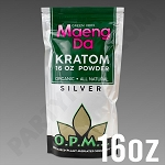 O.P.M.S. Silver - Green Vein Maeng Da POWDER 16 oz Kratom