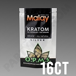 OPMS Kratom Silver Malay Special Reserve 9.6g, 16 caps