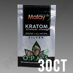 OPMS Kratom Silver Malay Special Reserve 18g, 30 caps