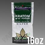 O.P.M.S. Silver - Red Vein Sumatra POWDER 16 oz Kratom