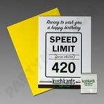 Kush Kards - 4pk - 420 Birthday for Pre-Roll (Birthday Card)