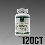 Whole Herbs Kratom - Green Vein Borneo 72g, 120 Count Bottle