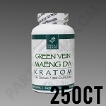 Whole Herbs Kratom - Green Vein Maeng Da 150g, 250 Count Bottle