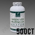 Whole Herbs Kratom - Green Vein Maeng Da 300g, 500 Count Bottle