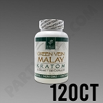 Whole Herbs Kratom - Green Vein Malay 72g, 120 Count Bottle
