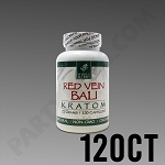 Whole Herbs Kratom; Red Vein Bali 72g, 120 count Bottle.