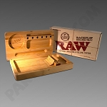 Raw Backflip Rolling Tray - Wooden