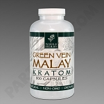 Whole Herbs Kratom; Green Vein Malay 250g, 500 count Bottle.