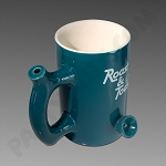 Roast & Toast Ceramic Mug Pipe Teal