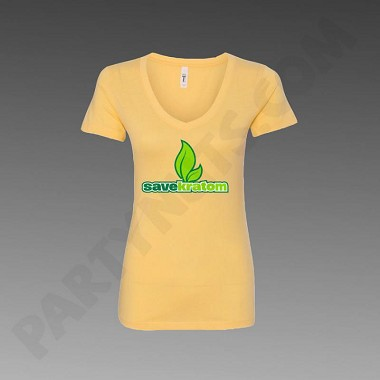 Yellow Save Kratom Women's T-Shirt (choose size)