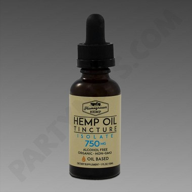 Homegrown Hemp Oil Base 750mg Isolate 30ml Tincture