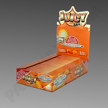 Juicy Jay's 1 1/4 Peach & Cream Flavored Paper