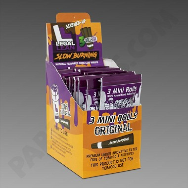Legal Lean 3pk Organic Mini Cone Original - 24ct Box