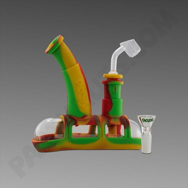 Ooze Steamboat Rasta - Silicone Bubbler