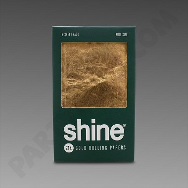 Shine 24K Gold Rolling Papers King Size 6-Pack - Single Pack