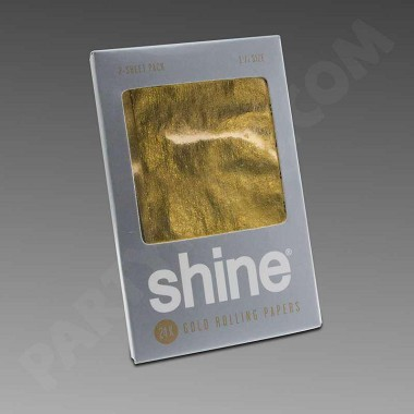 Shine 24K Gold Rolling Papers 1 1/4 2-Pack