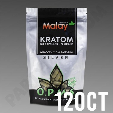OPMS Kratom Silver Malay Special Reserve 72g, 120 caps