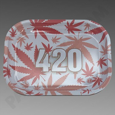 Rolling Tray Small Pink 420