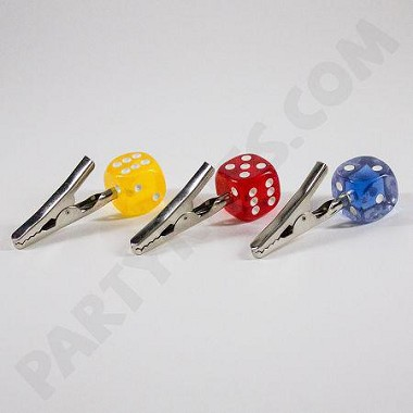 Dice Clip 5pk (3 Colors to Choose from)