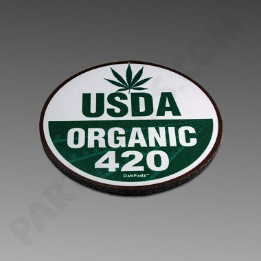 "Dab Padz 5"" Round Fabric Top USDA Organic"