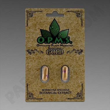 OPMS Kratom Gold 2ct. (Organically Purified Mitragyna speciosa All Natural Extract) upcharges may apply, see description.