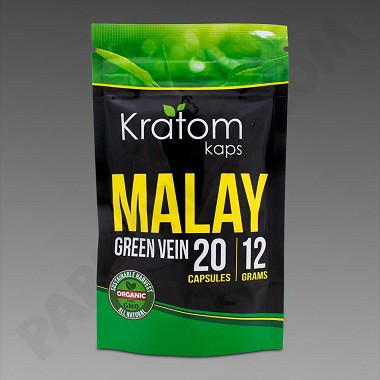 Kratom Kaps - Malay 12g, 20 Caps Bag