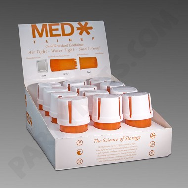 Medtainer Child Resistant 12 Ct Display
