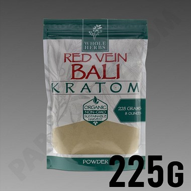 Whole Herbs Kratom - Red Vein Bali Powder 225g / 8 oz Bag